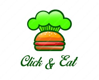 Click And Eat Logo Design