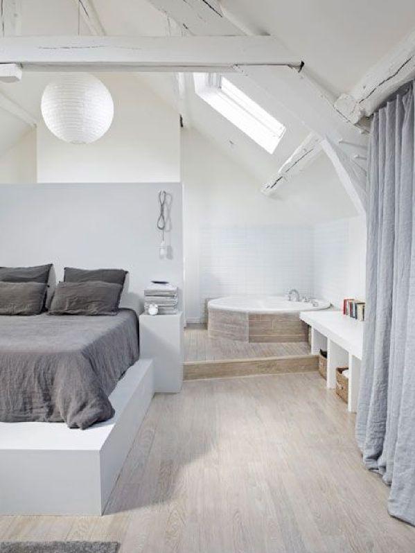 5 idées pour aménager ses combles en une belle suite parentale…   www.decocrush.fr