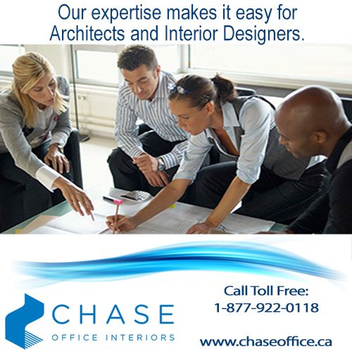 Chase Office Interiors is the office furniture expert focused on making it easy for Architects and Interior Designers to create office environments that will meet end users` expectations. For more information, please call: 1 877 922 0118