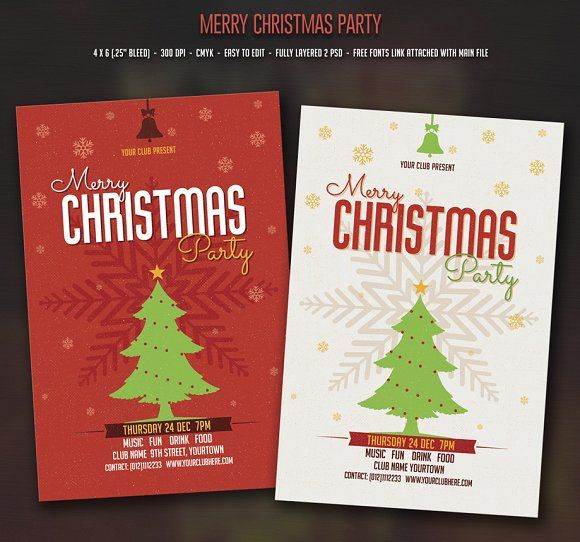 Christmas Party Personalised Christmas Cards Christmas Card Design Christmas Card Template