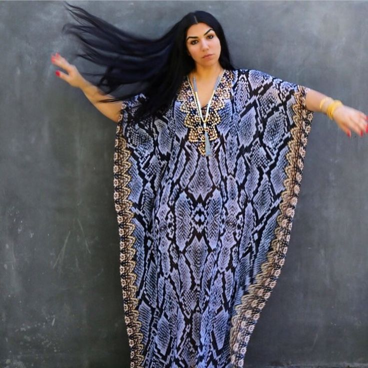 Love this long kaftan by Asa!