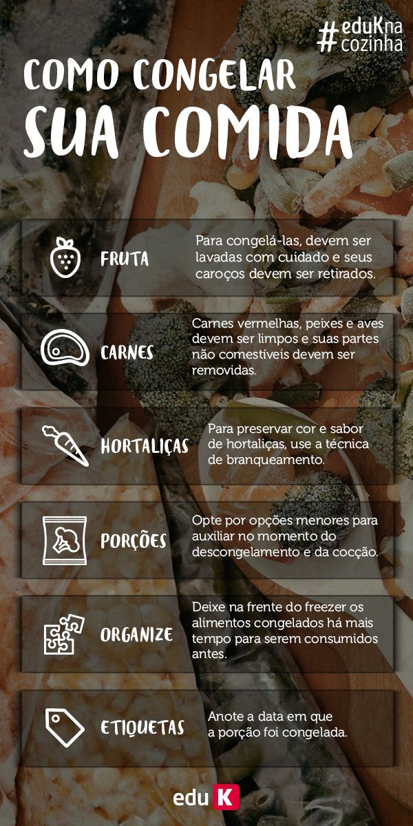 Com todas essas dicas de congelar comida agora você pode fazer todas as receitas da eduK e guardar depois!