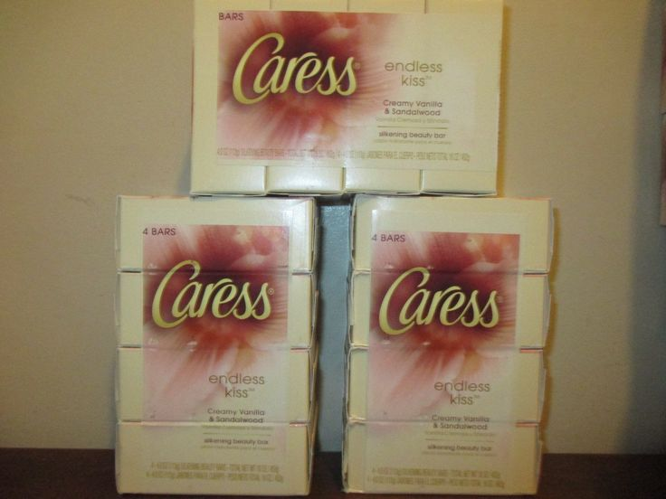 Bar Soaps: 12 Caress Beauty Bar Soap Endless Kiss Creamy Vanilla And Sandalwood 4.0 Oz Each -> BUY IT NOW ONLY: $35 on eBay!