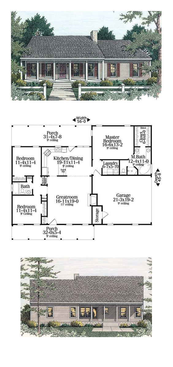Country Ranch House Plan 40026 26 best