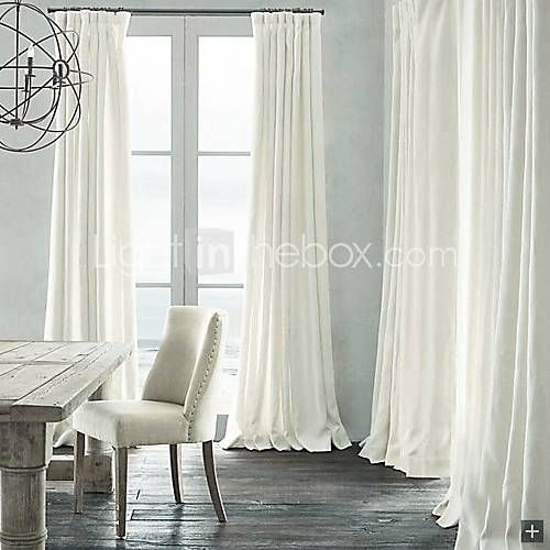 Room darkening curtains white