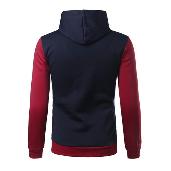 Autumn Fashion Color Spell PU Leather Hoodies Men's Casual Hip-Hop Sport Hooded Tops at Banggood