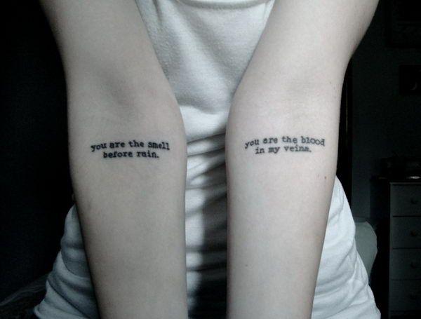 Typewriter Font Tattoos on Arm - Cool Tattoo Fonts Ideas, http://hative.com/cool-tattoo-fonts-ideas/,