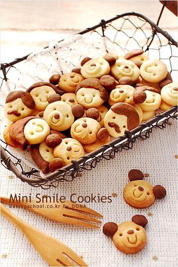 Mini smile cookies