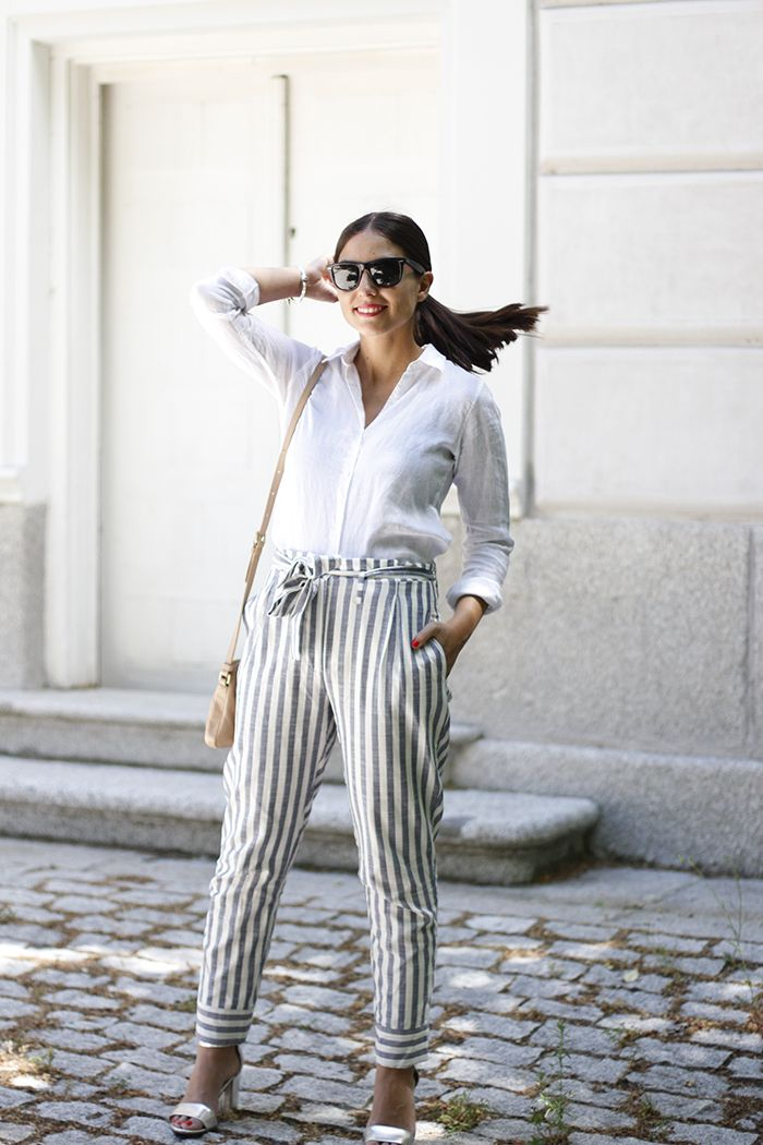 ALL THAT SHE WANTS - blog de moda: Camisa de lino y pantalones de rayas
