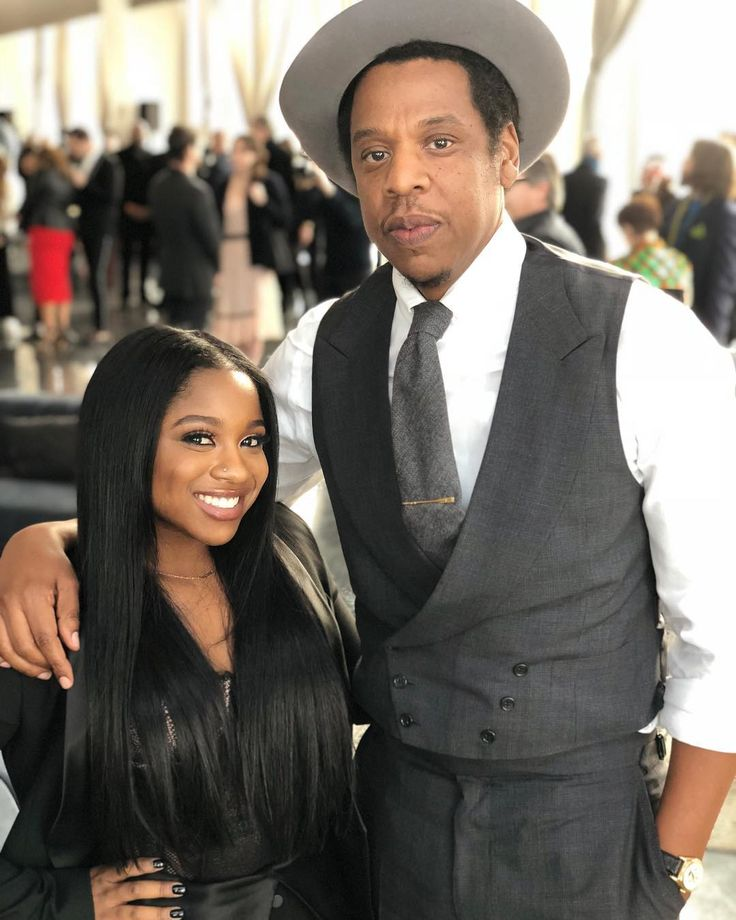 "aintnojigga:  "" JAY-Z and Lil Wayne's daughter Reginae Carter, photographed at today's Roc Nation Brunch, which is being held in the observatory at the top of One World Trade Center in Lower Manhattan.  Hov is wearing a Ralph Lauren Purple Label suit,..."