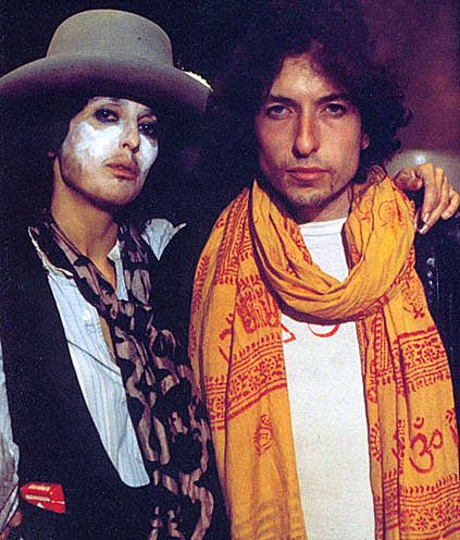 Joan Baez and Bob Dylan ca. 1975