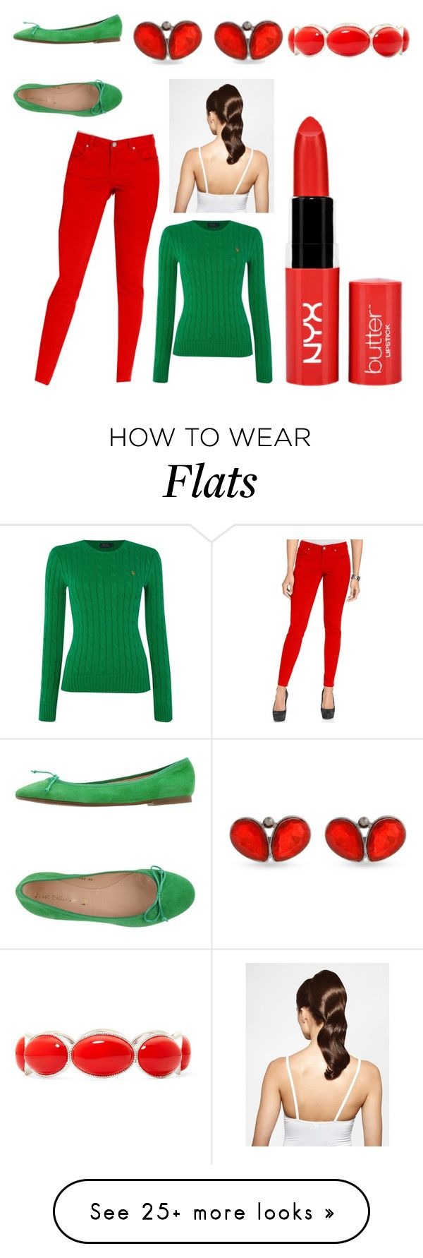 """""""Untitled #1366"""" by michelle-burns-steed on Polyvore featuring Style & Co., Polo Ralph Lauren, SWEET BALLERINA, Erica Lyons, Liz Claiborne and Hershesons"""