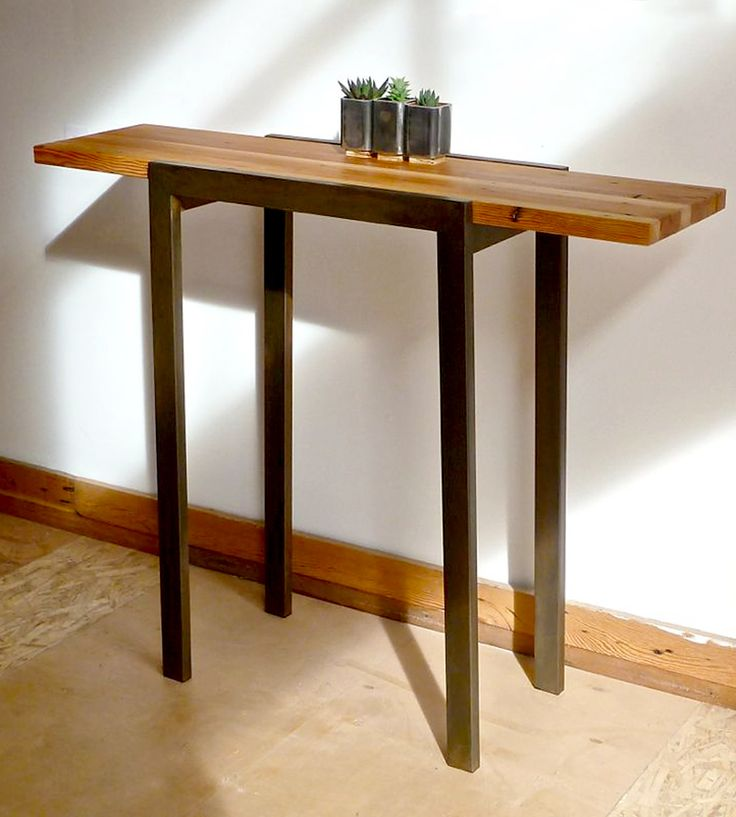 Reclaimed Wood Industrial Entry Table by DangerMade on Scoutmob Shoppe.