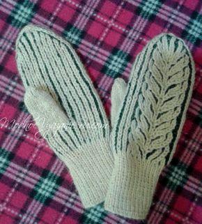 Варежки в технике бриошь *Снежные веточки* - Модное вязание