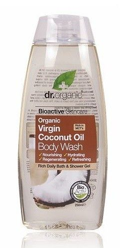 images of Coconut oil for body | Dr Organic Virgin Coconut Oil Body Wash 250ml