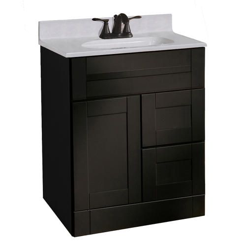 menards bathroom cabinets pace murano series 24 quot x 21 quot vanity with drawers on right 23179
