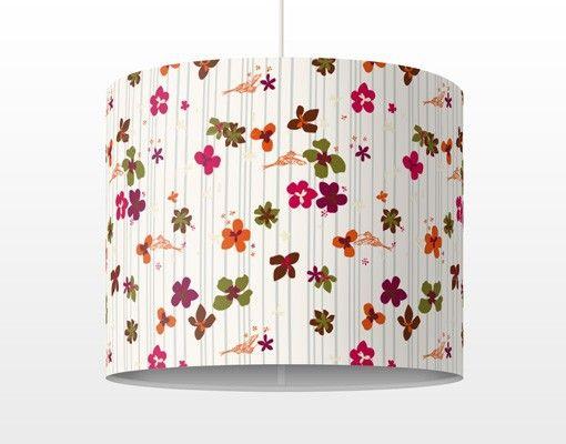 Superb  H ngelampe Floral Pattern Lampe Schirmlampe Wei retro Stil