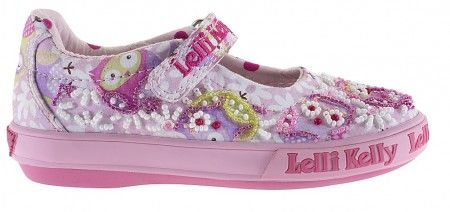Lelli Kelly Owl Lilac Pink Canvas Shoes
