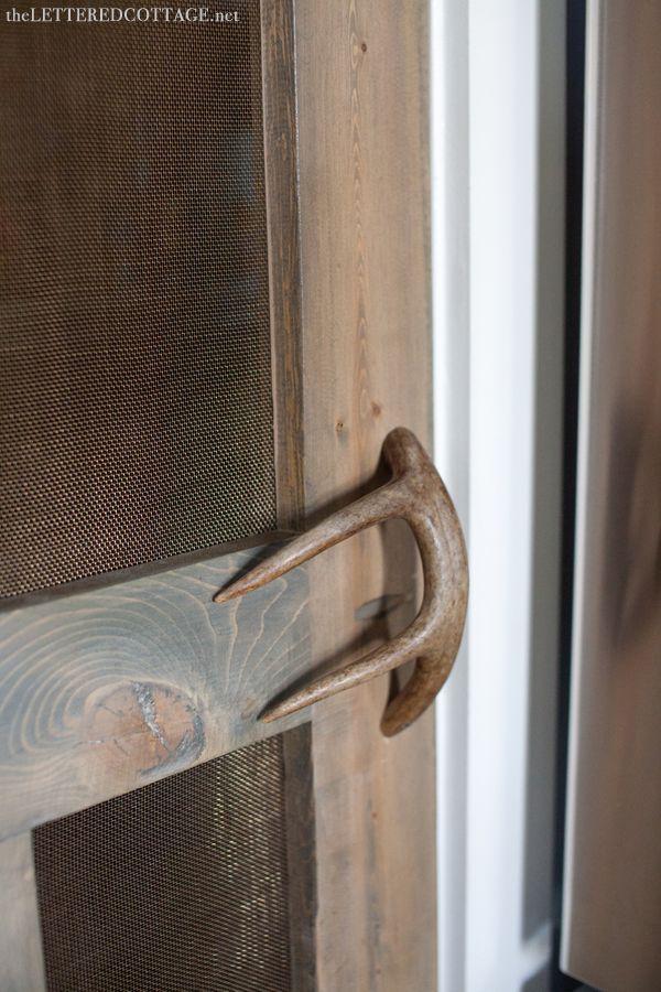 Antler Door Handle. Love it!!