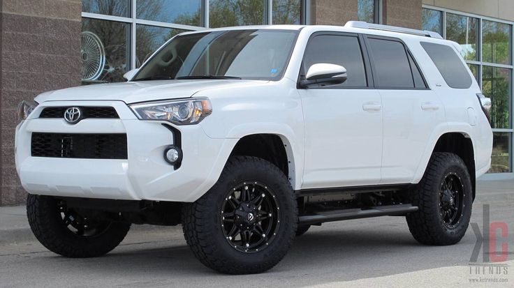 18x9.0 FUEL Hostage wheels mounted with Toyo AT2  tires and a 3 inch lift kit on a Toyota 4 Runner.