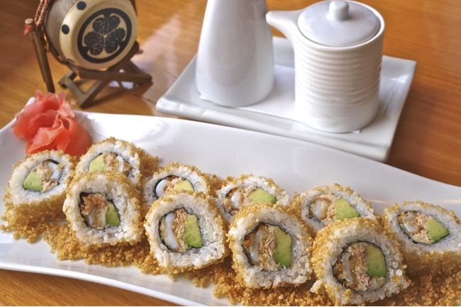 The Quinoa roll is one of the innovative new dishes at Sushi-Ito.