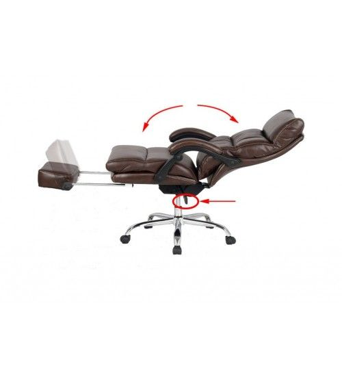 VIVA OFFICE® Latest High Back Office Chair, Ergonomic Bonded Leather  Recliner Swivel Napping Chair