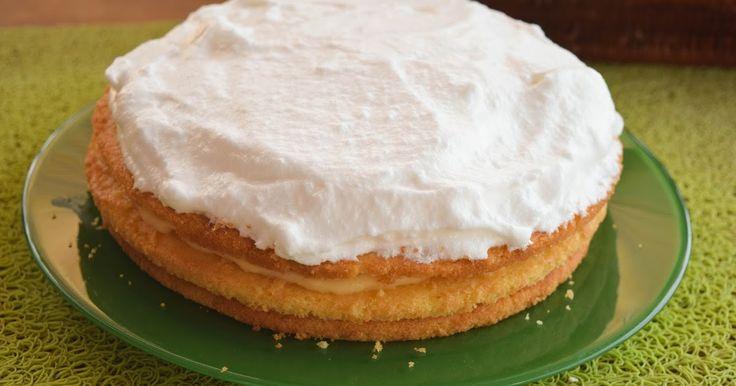 Tarta de Merengue y Crema Pastelera Sin Gluten. Repostería Tximeleta.