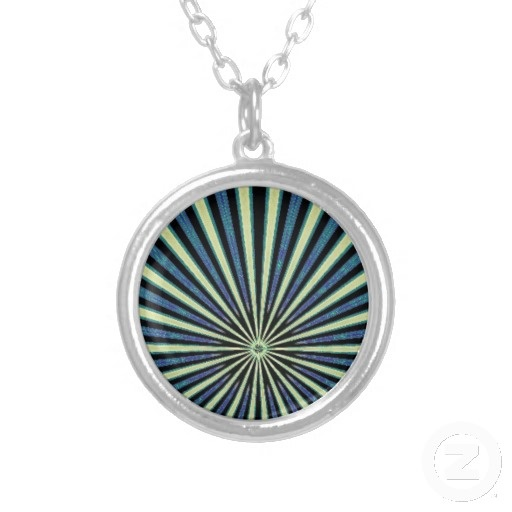 Train's Coming Digital Art Necklace