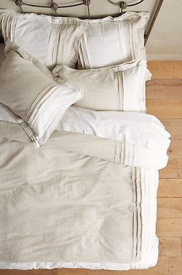 Simple Neutral Bed Sheets - Artfully Crumpled - Heaven!