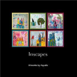 Aqualia creates Inscapes wishing to turn  scars into light, ephemeral into eternal, failed words into voice. Her artworks are a constant call, an invitation for the viewer to connect in a deep level. Through a fluid innocence and a whimsical quality she narrates untold stories of our souls.