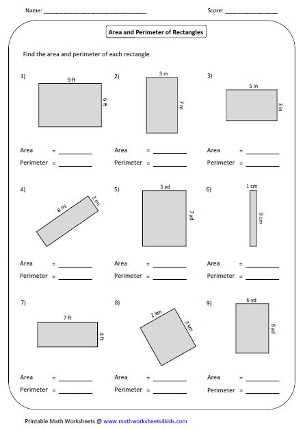 Best 25 Perimeter Of Rectangle Ideas On Pinterest Math