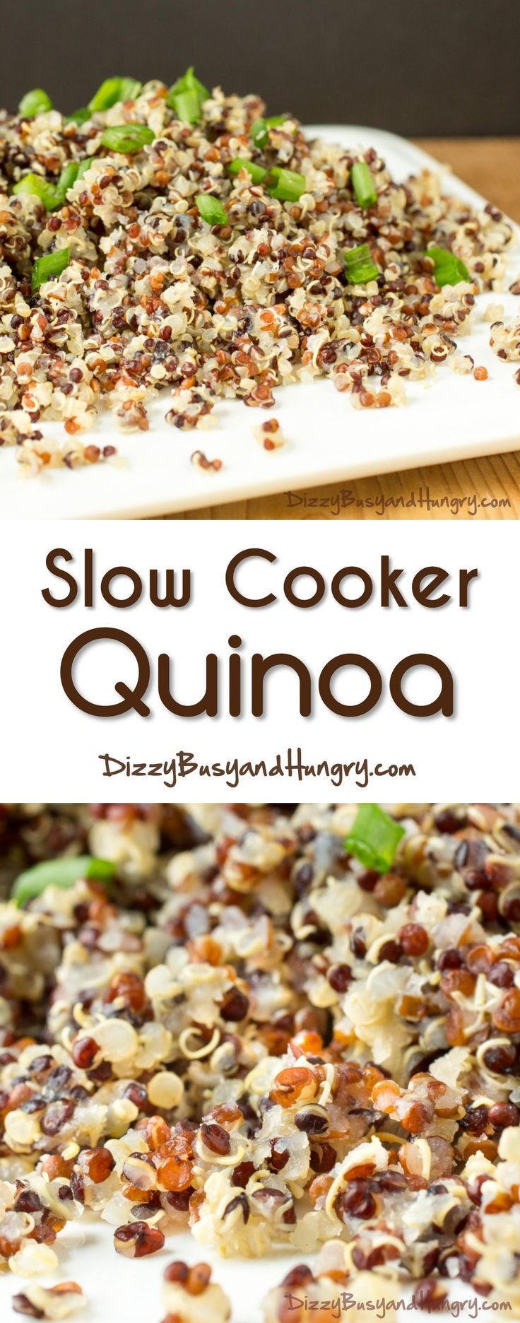 Slow Cooker Quinoa  Dizzybusyandhungry  The Easiest Way To Get  Perfectly Cooked Quinoa