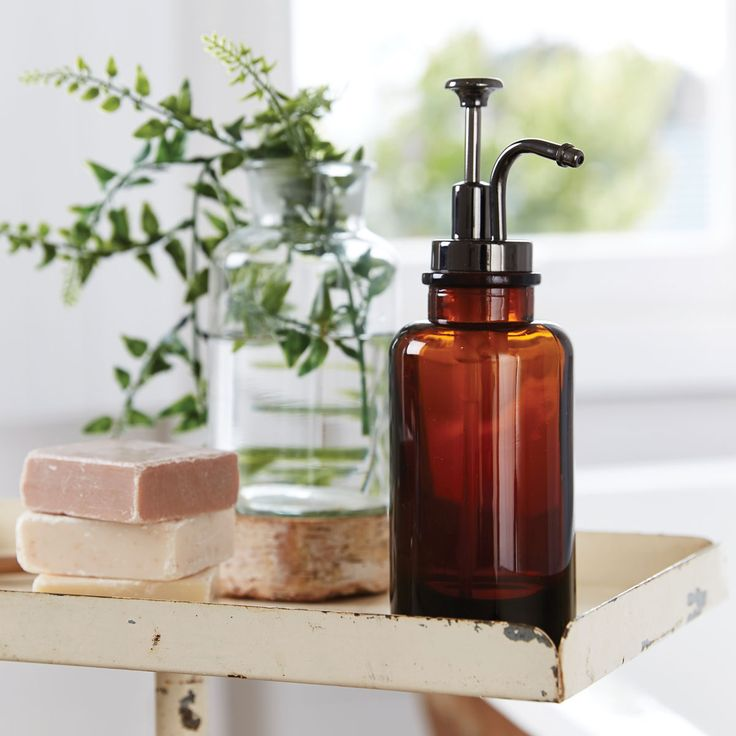 Bed Bath N Table 24 95 Apothecary Soap Dispenser Brown Decor Ideas Pinterest