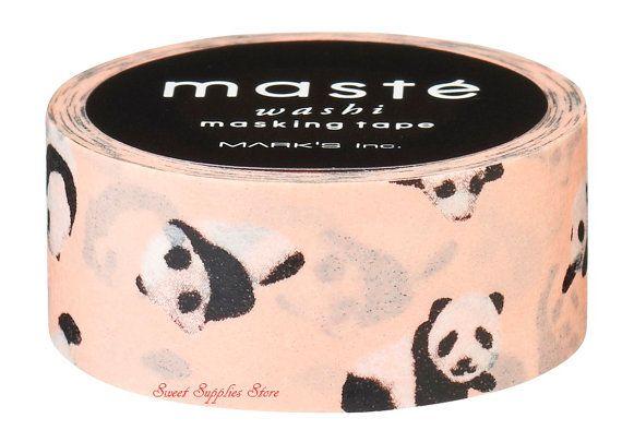 Baby Panda  Washi Tape Masking Tape Deco di SweetSuppliesStore