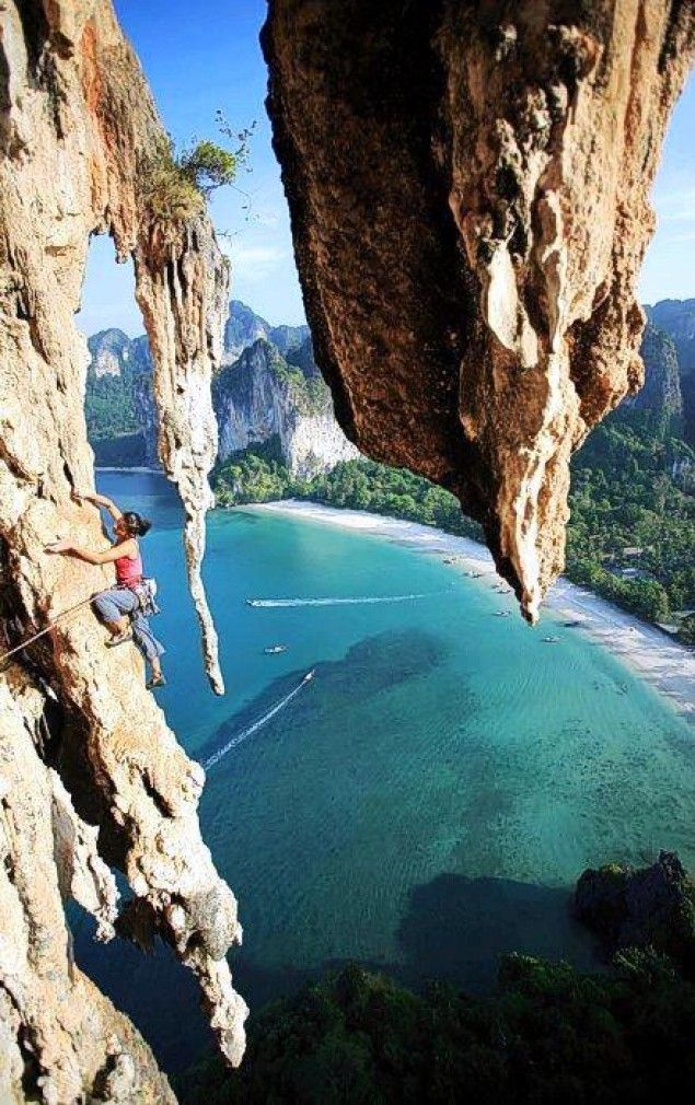 Climbing in Thailand. Need to get into some serious shape for this.