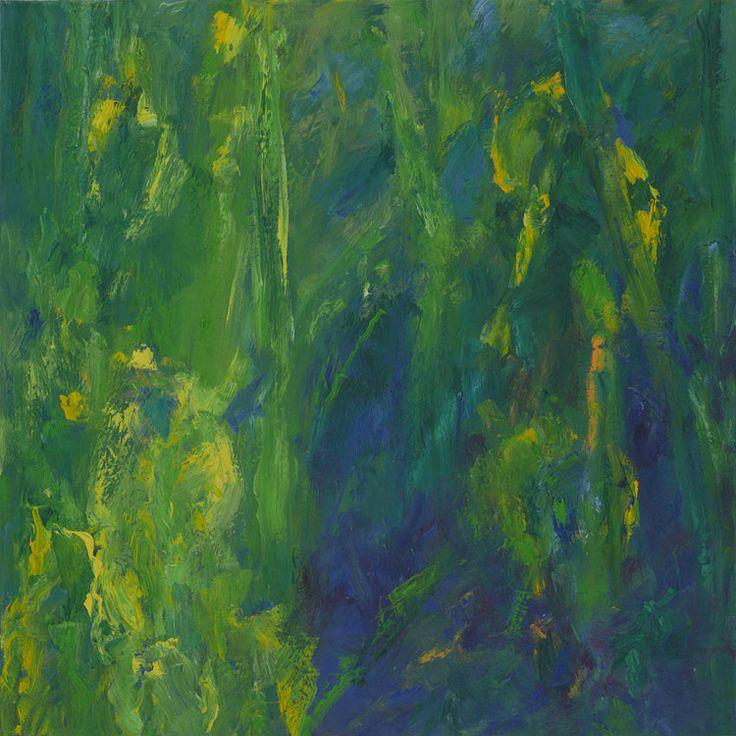 Rautio: Yellow Iris - keltakurjenmiekat, 80x80 cm, 2017.