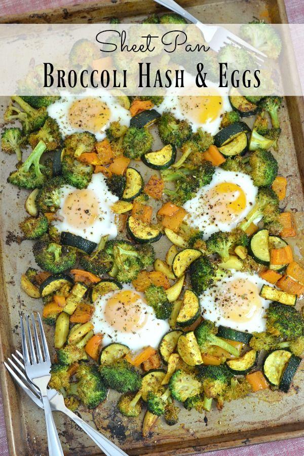 Sheet Pan Broccoli Hash & Eggs