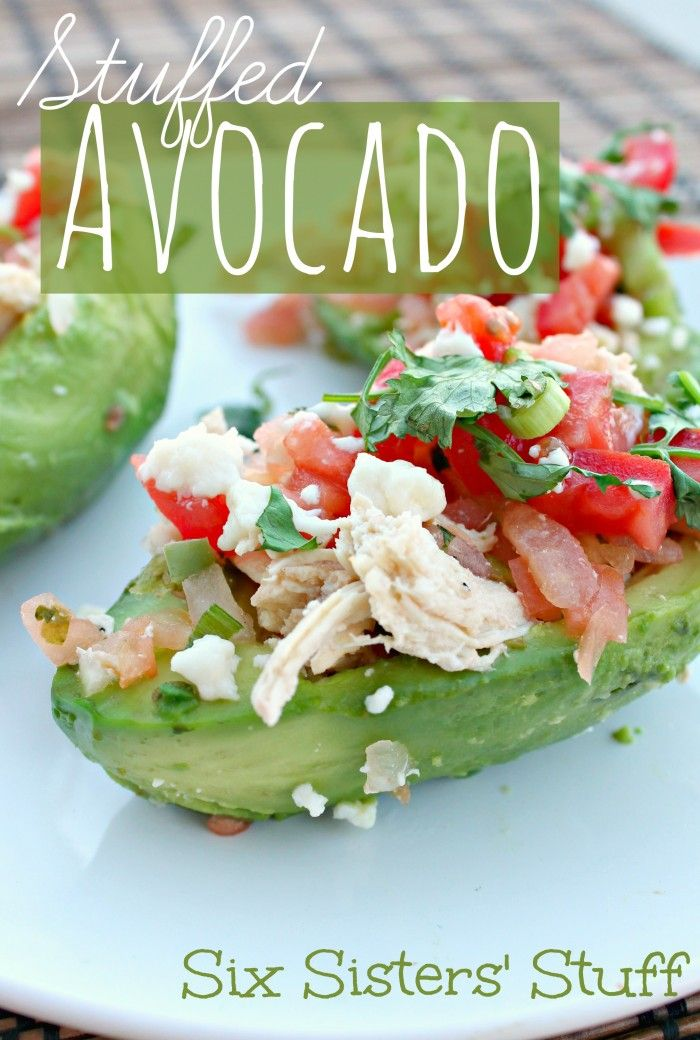 Healthy Stuffed Avocado Recipes from SixSistersStuff.com.  The perfect meal for avocado lovers! #sixsistersstuff