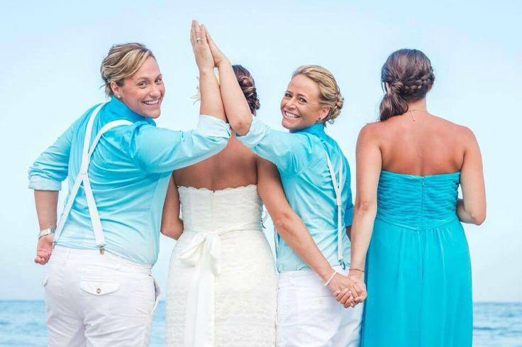 Beach wedding,  Gay wedding, Lesbian wedding, Wedding photography ideas…