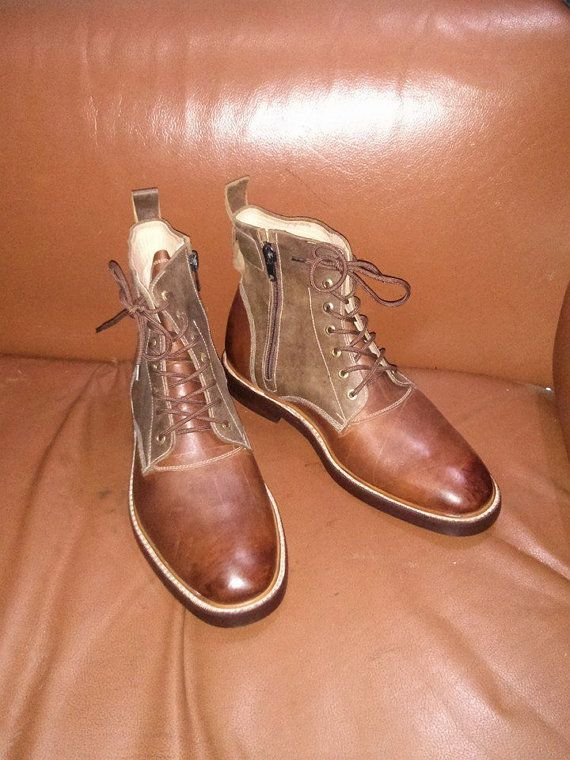 Men's Leather Boots, Men Leather Boots, Winter Boots, Rough look Boots, Ankle Boots for Men, Custom Made to Order, Handmade Leather Boots.