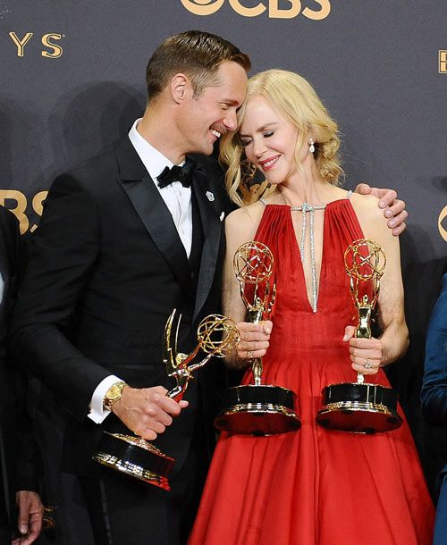 Alexander Skarsgard et Nicole Kidman aux Emmy Awards 2017