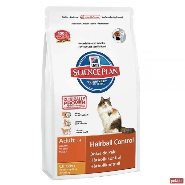Hill's Adult Hairball Control Chicken Tavuklu Tüy Yumağı Önleyici Yetişkin Kedi Maması 1,5 Kg