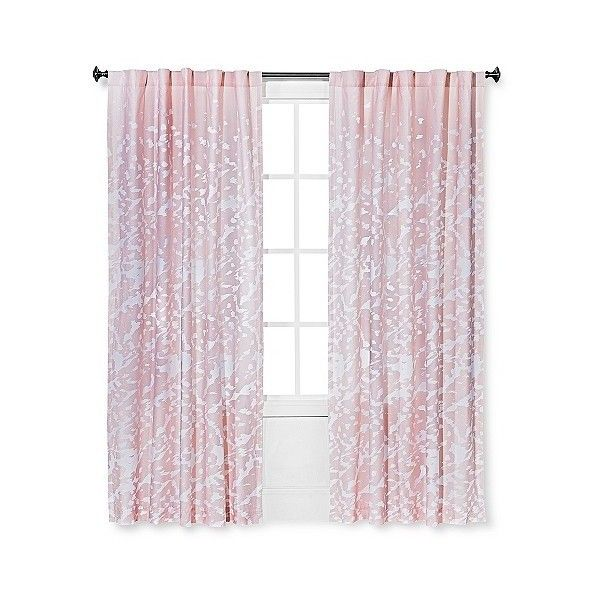 Sabrina Soto Playa Curtain Panel ($30) ❤ liked on Polyvore featuring home, home decor, window treatments, curtains, blush peach, target curtain panels, peach curtains and target curtains