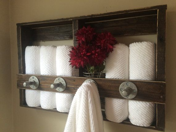 32W X 5D X 20H A lovely way to display a bath towel or hang several for everyday after shower routines. Store your favorite bathroom luxuries in the