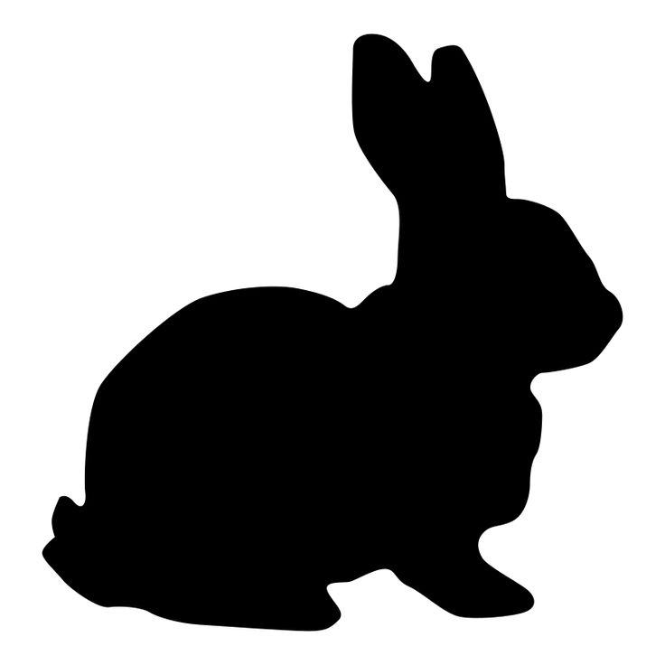 Bunny silhouette for bunny totes~~Rabbit Silhouette by kuba - Black Silhouette of the rabbit.