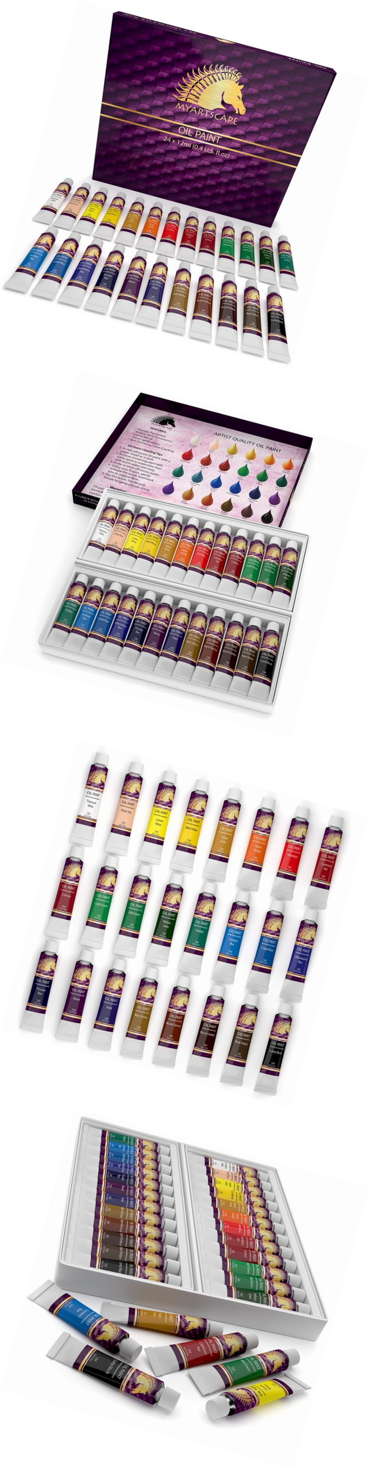 Oil Paint 28112: Oil Paint Set - 24 X 12Ml Tubes - Artist Quality Art Paints - Myartscape -> BUY IT NOW ONLY: $30.98 on eBay!