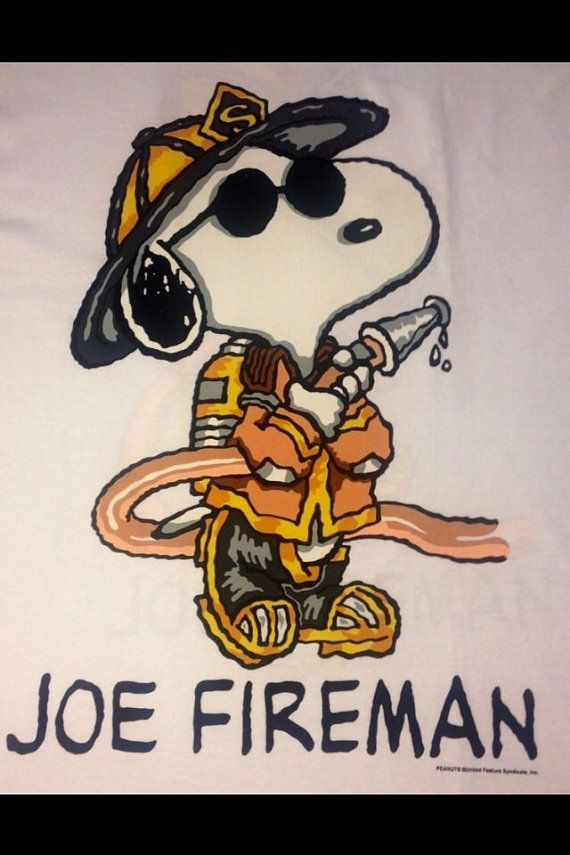 SNOOPY Joe Fireman PEANUTS True Vintage