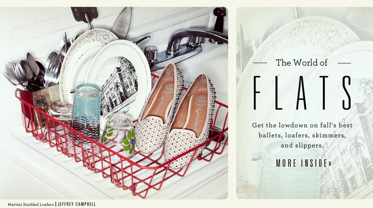 Shopbop - The World of Flats - Fall's best ballets, loafers, skimmers & slippers.