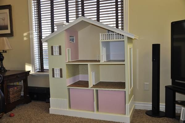 Do It Yourself Home Design: Build A Modern Dollhouse Bookshelf