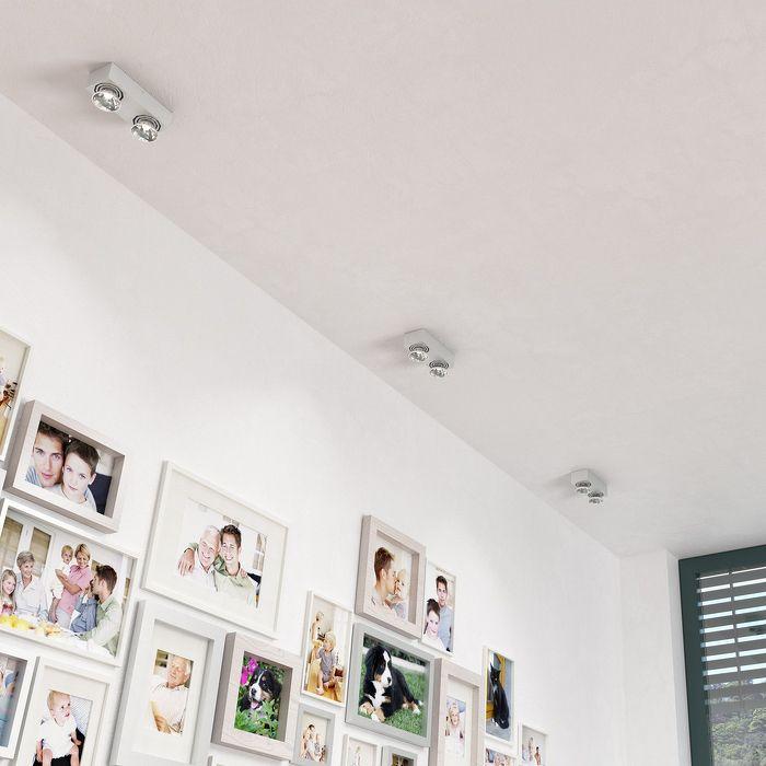 MARVEL | rendl light studio | Rectangular fixture with two directional GU10 light sources. #lights #interior #spotlights #wall